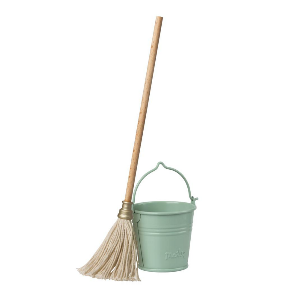 Maileg Mini Bucket and Mop Set
