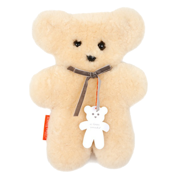 Sheepskin Cuddle Bear · Natural