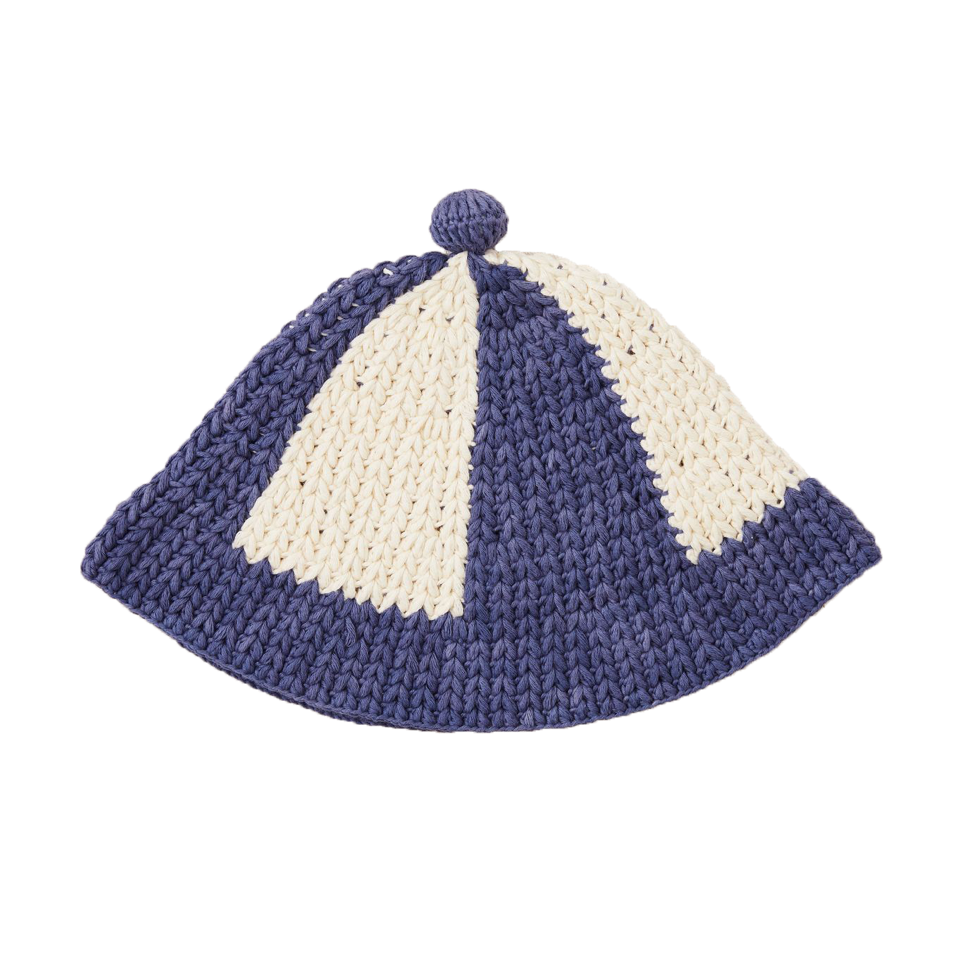 Misha and Puff Blue Violet Crocheted Beach Hat
