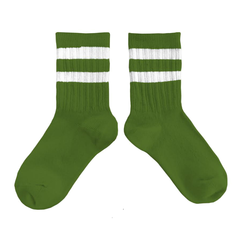 Collegien Green Varsity Knee High Socks