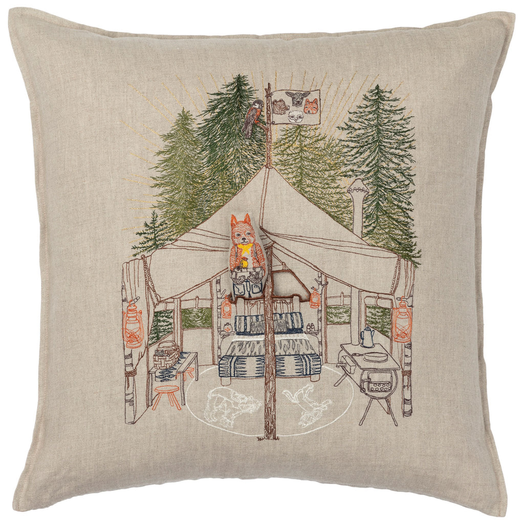 Coral and Tusk Camper Fox Pocket Pillow