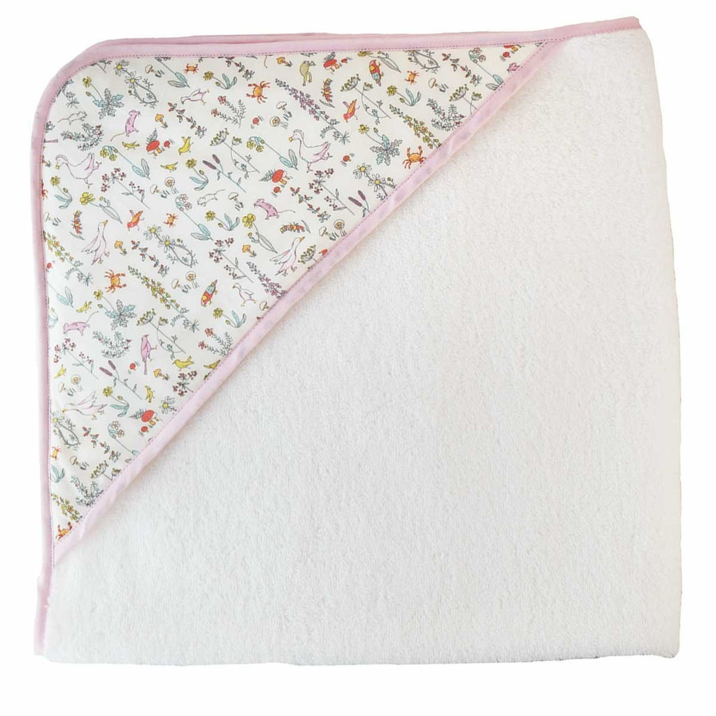 Pink Animals Bath Cape