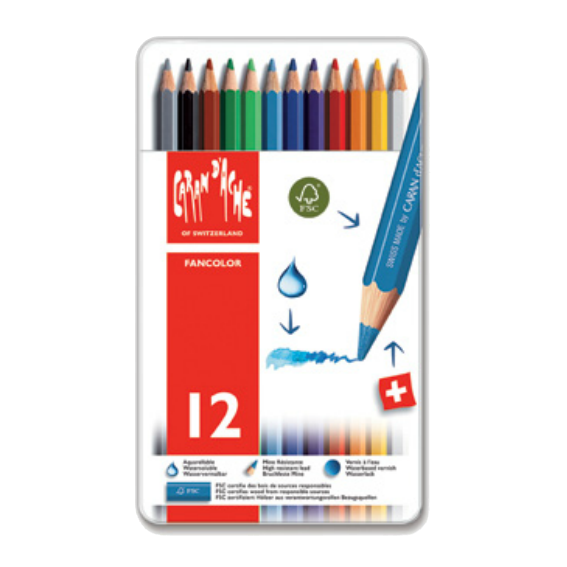 Caran Dache 12 Piece Colored Pencil Set