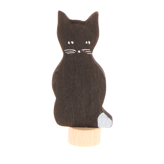 Wooden Cat Figurine