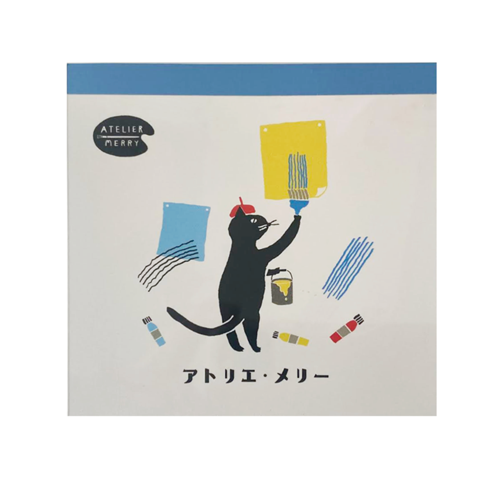 Painter Cat Memo Pad