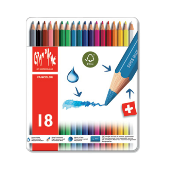 Caron Dache 18 Piece Colored Pencil Set
