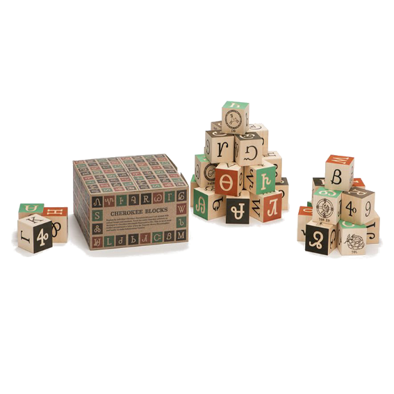 Uncle Goose Cherokee Syllabary Blocks