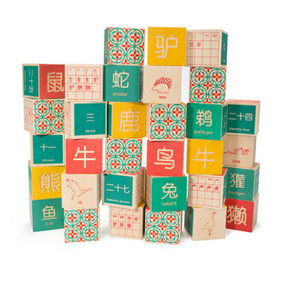 Uncle Goose Chinese Alphabet Blocks
