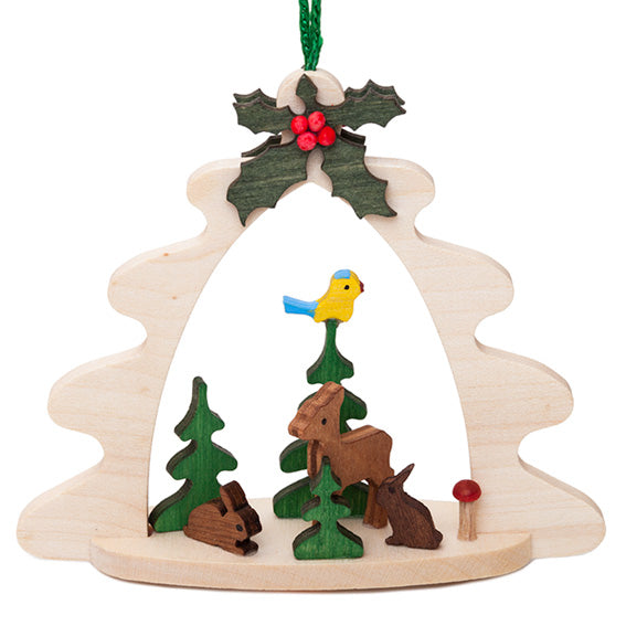 Wooden Forest Ornament