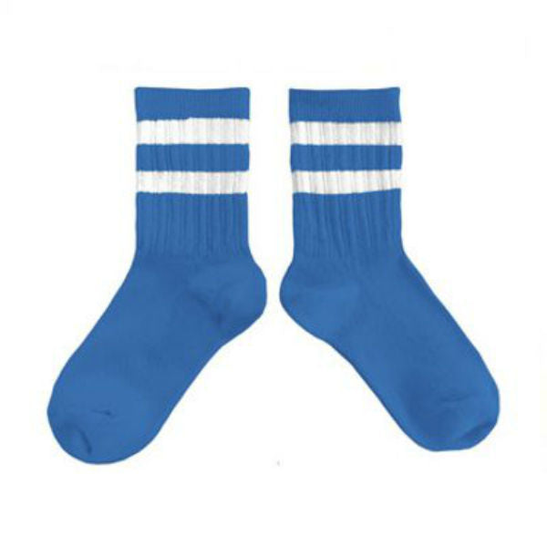 Collegien Blue Varsity Ankle High Socks