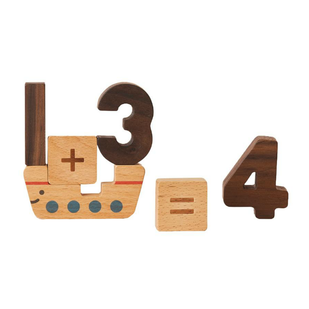 Wooden Numbers Block Set