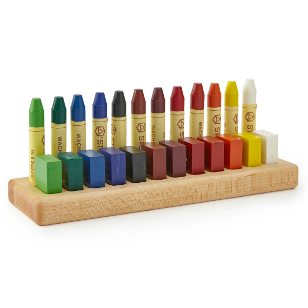 Wooden Crayon Holder · 24 Crayons