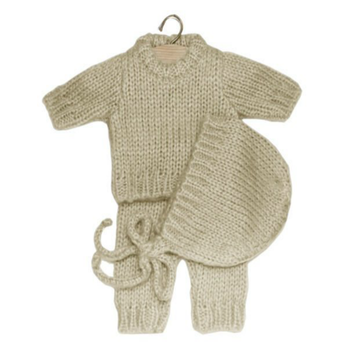Bath Baby Cream Knitwear Set