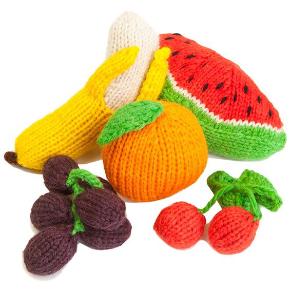 Knit Large Fruit Set
