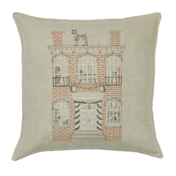 Coral and Tusk Brick Townhouse Pillow