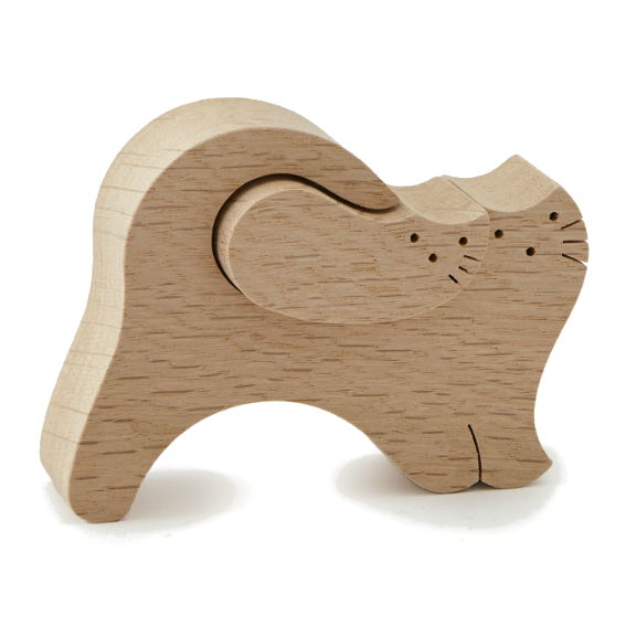 Wooden Cuddling Cats Puzzle