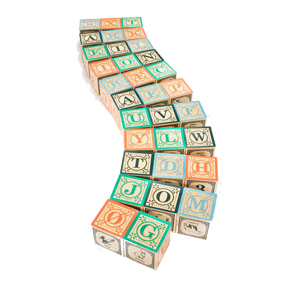 Uncle Goose Danish Alphabet Blocks