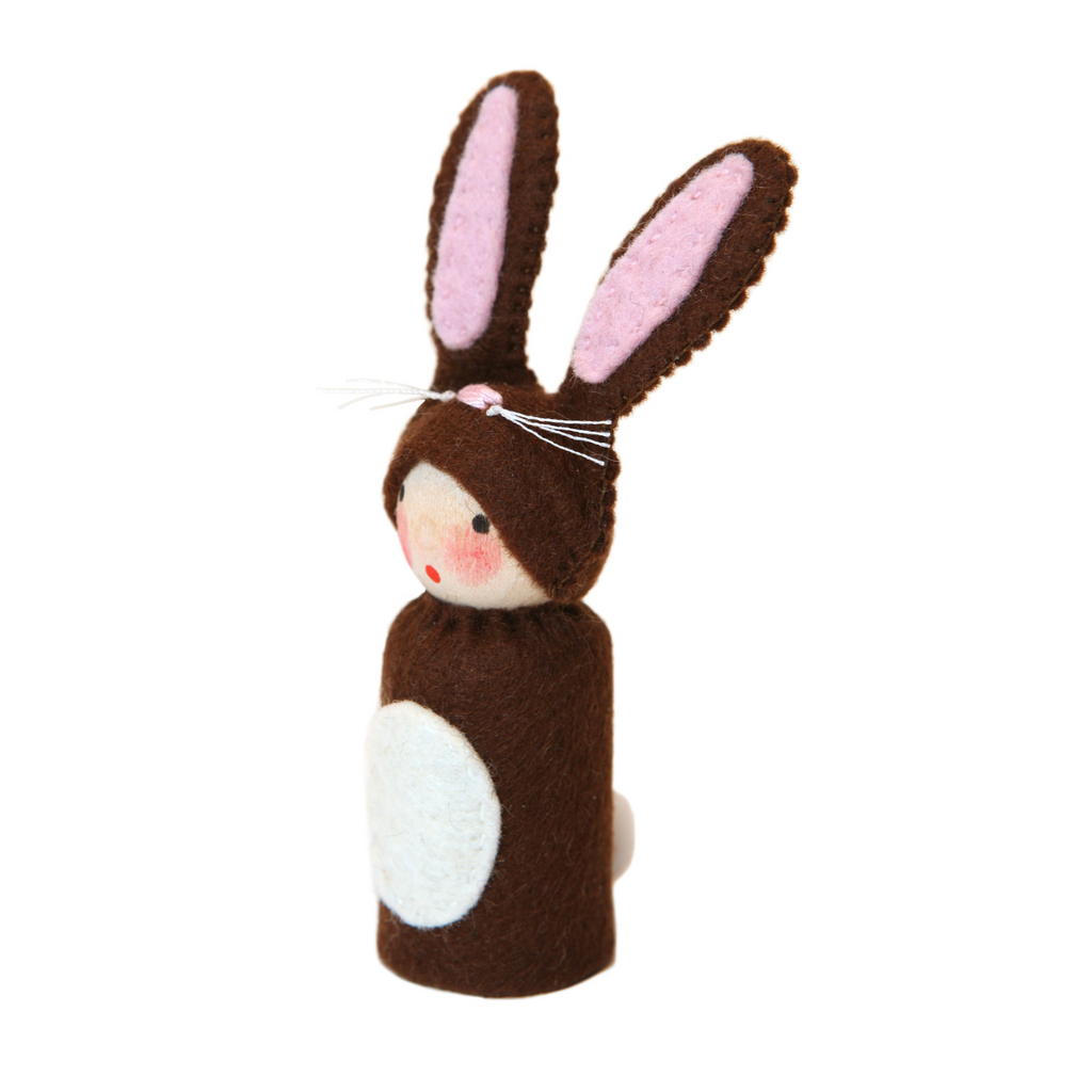 Peg Doll in Dark Brown Bunny Costume