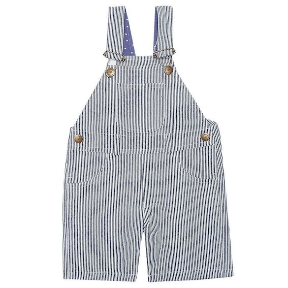 Dotty Dungarees Otto Striped Baby Overalls - 18-24 months