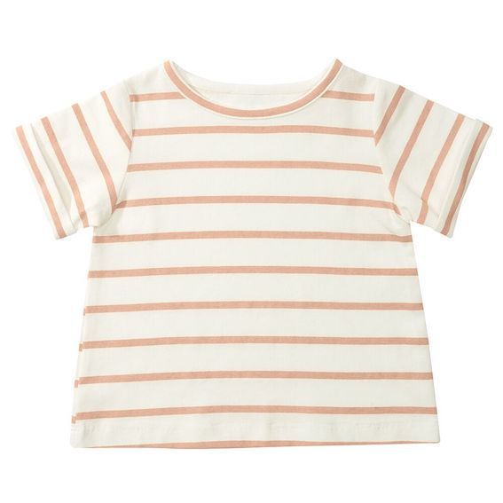 Dotty Dungarees Pink Striped Toddler Tee Shirt  - 4-5 years
