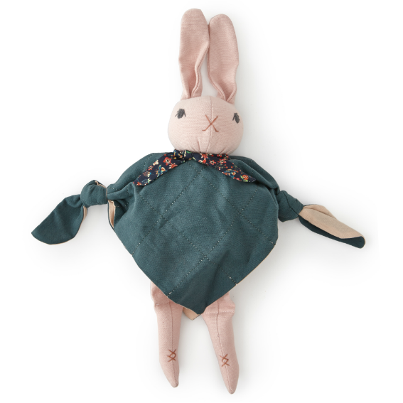 Polka Dot Club Blue Cuddling Rabbit