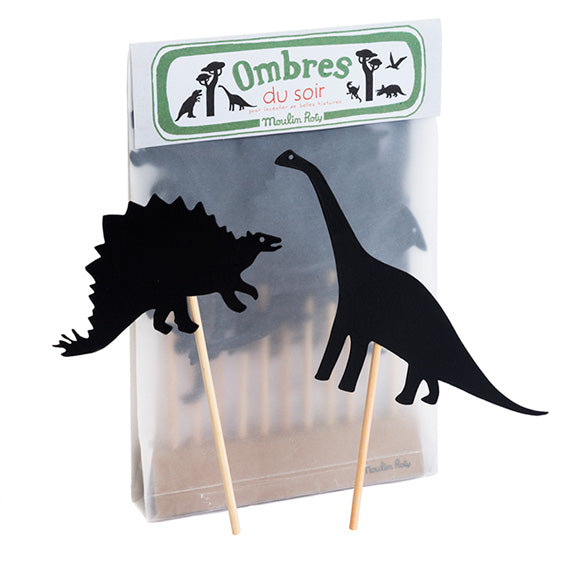 Moulin Roty Dinosaur Shadow Puppet Set