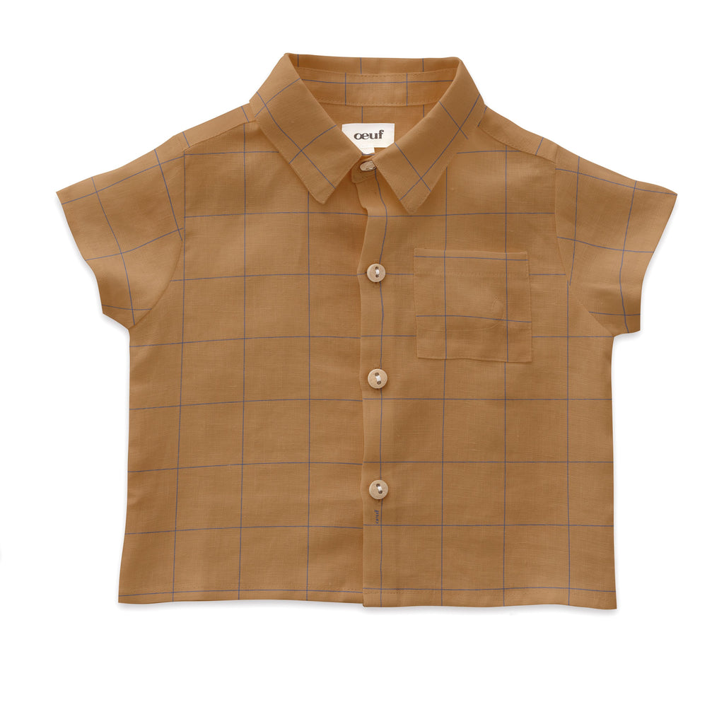 Oeuf Doe Check Button Down Shirt