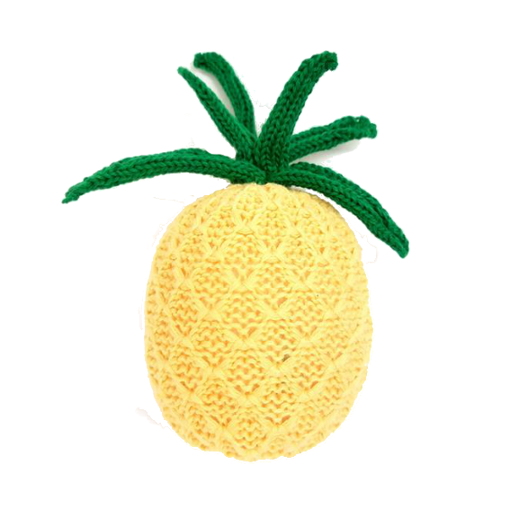 Organic Pineapple Rattle