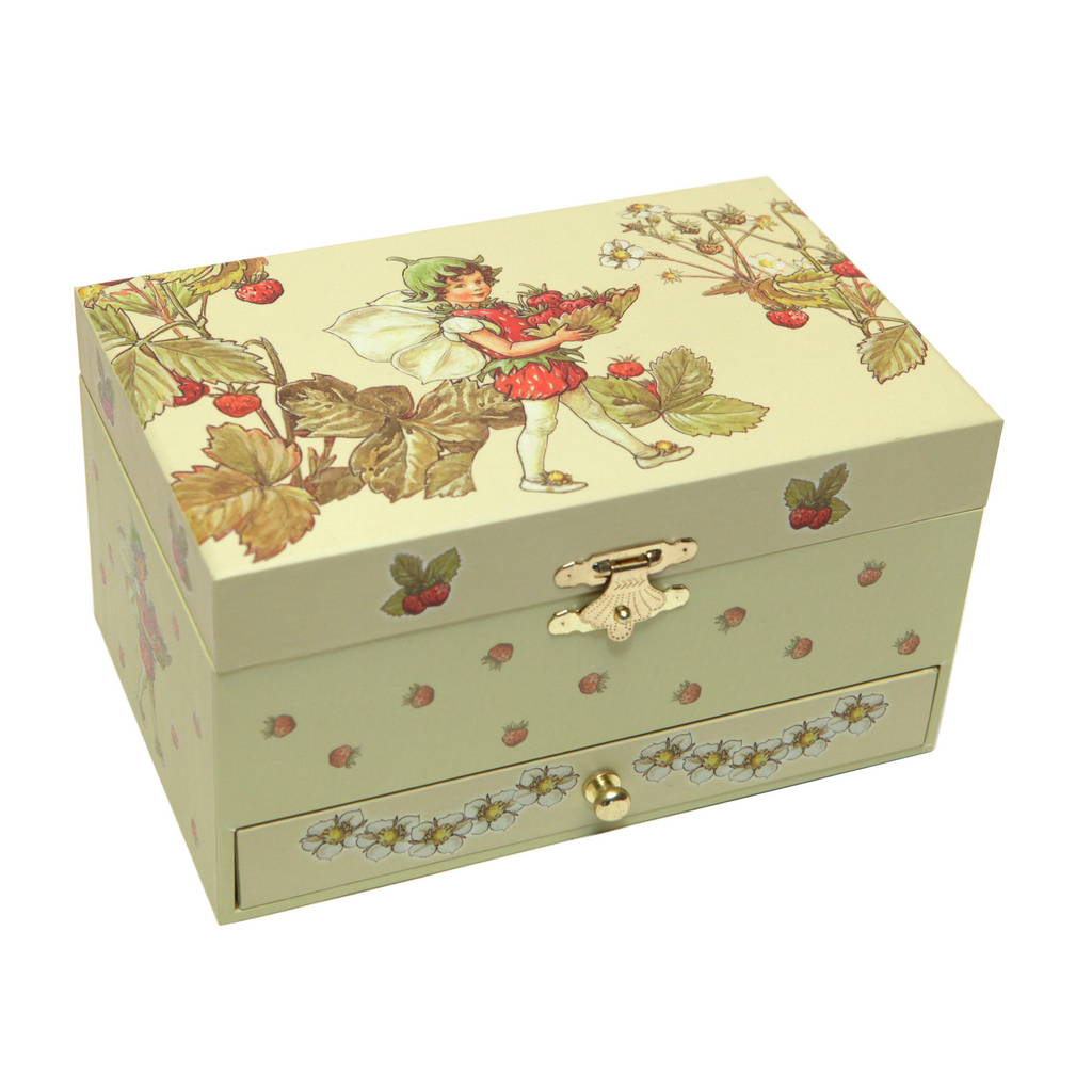 Strawberry Flower Fairies Music Box