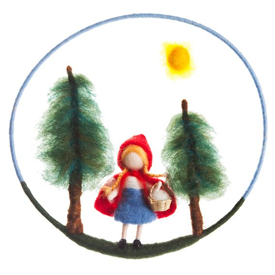 Felted Little Red Riding Hood Mobile