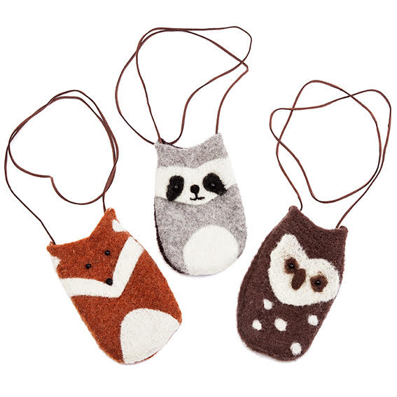 Wooly Wildlife Pouches  - Fox Pouch