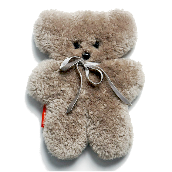 Sheepskin Cuddle Bear · Gray