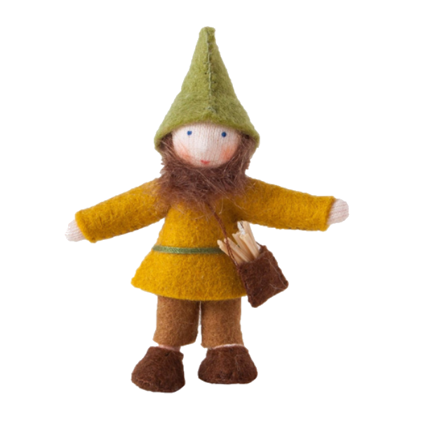 White Forest Gnome with Pouch