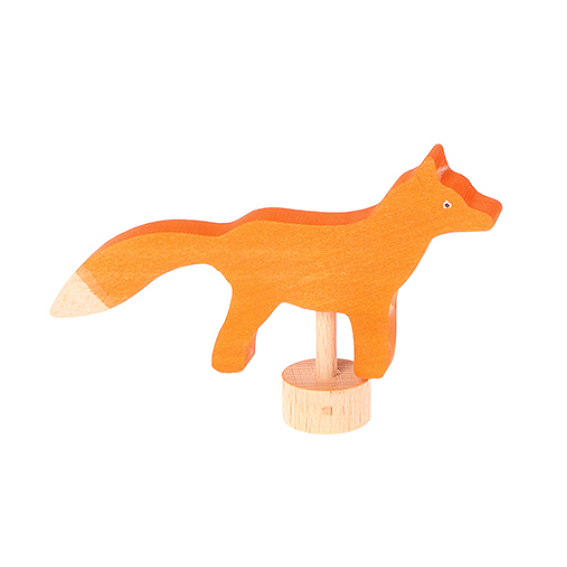 Grimm's Wooden Fox Figurine