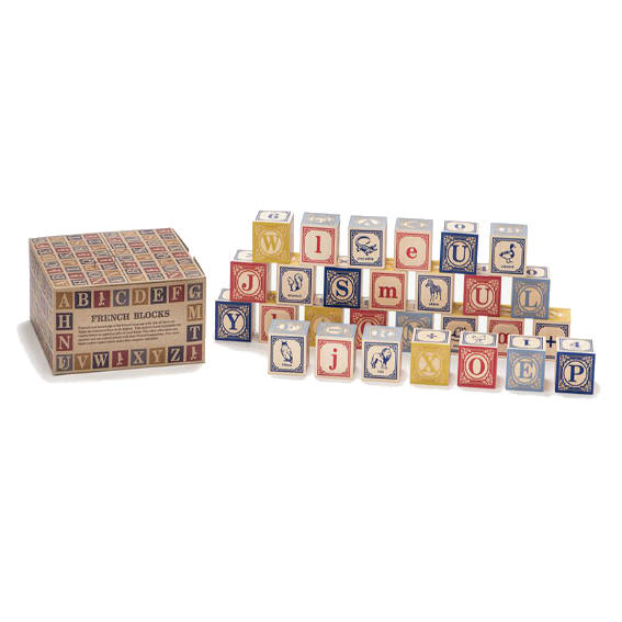 Uncle Goose French Alphabet Blocks