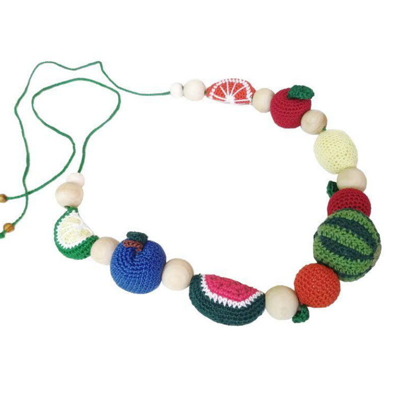 Crocheted Fruit Teething Necklace