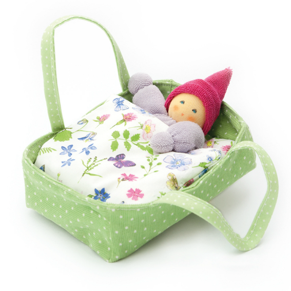 Doll and Green Bed Set