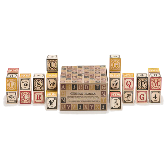 Uncle Goose German Alphabet Blocks