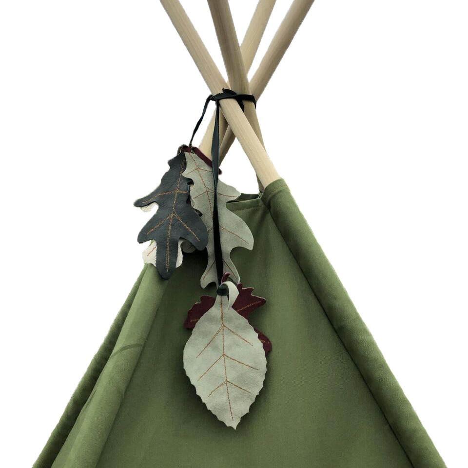 Manimal Sage Green Teepee with Geometric Closures