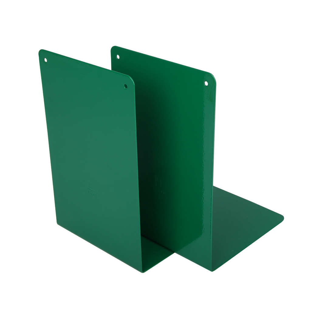 Green Metal Bookend Set