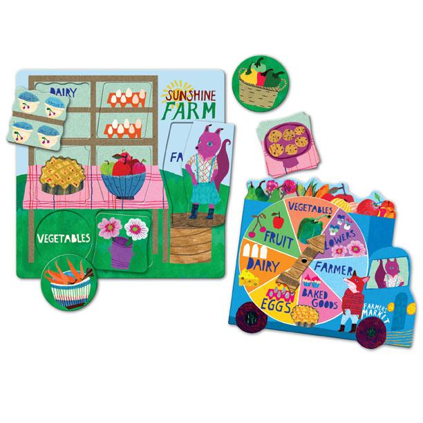EeBoo Green Market Spinner Board Game