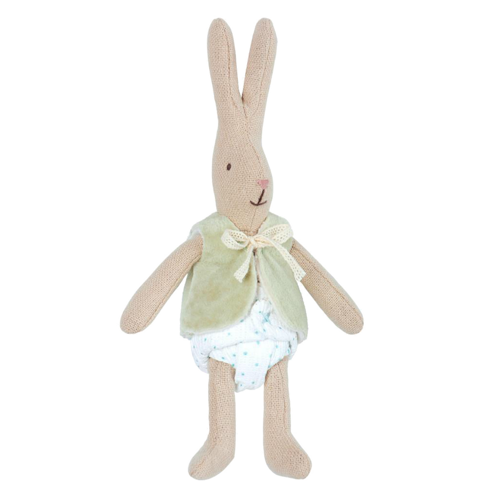 Maileg Micro Bunny in Green Vest