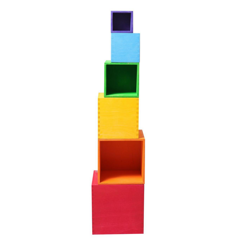 Grimm's Large Rainbow Box Stack