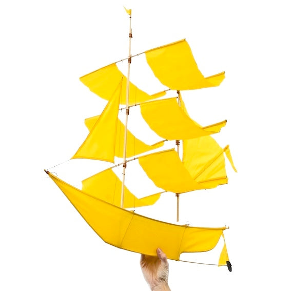 Yellow Ship Kite