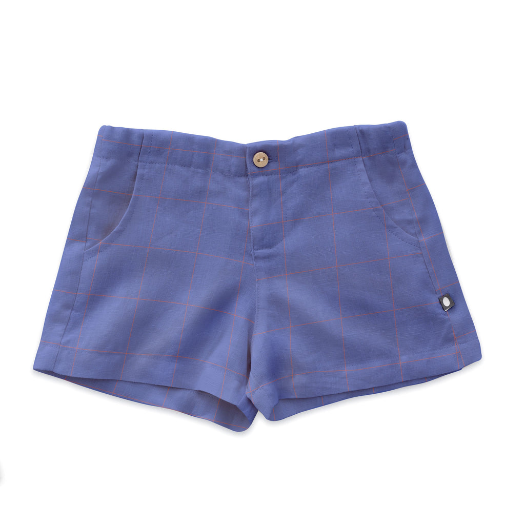 Oeuf Iris Check Shorts