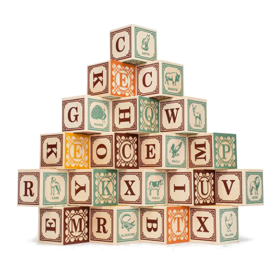 Uncle Goose Italian Alphabet Blocks