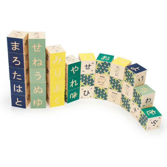 Uncle Goose Japanese Alphabet Blocks