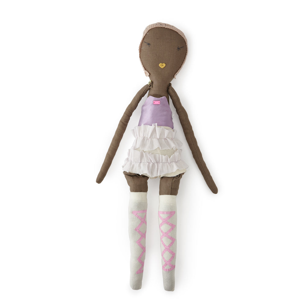 Jess Brown Circus Doll with Lavender Tutu · Bell