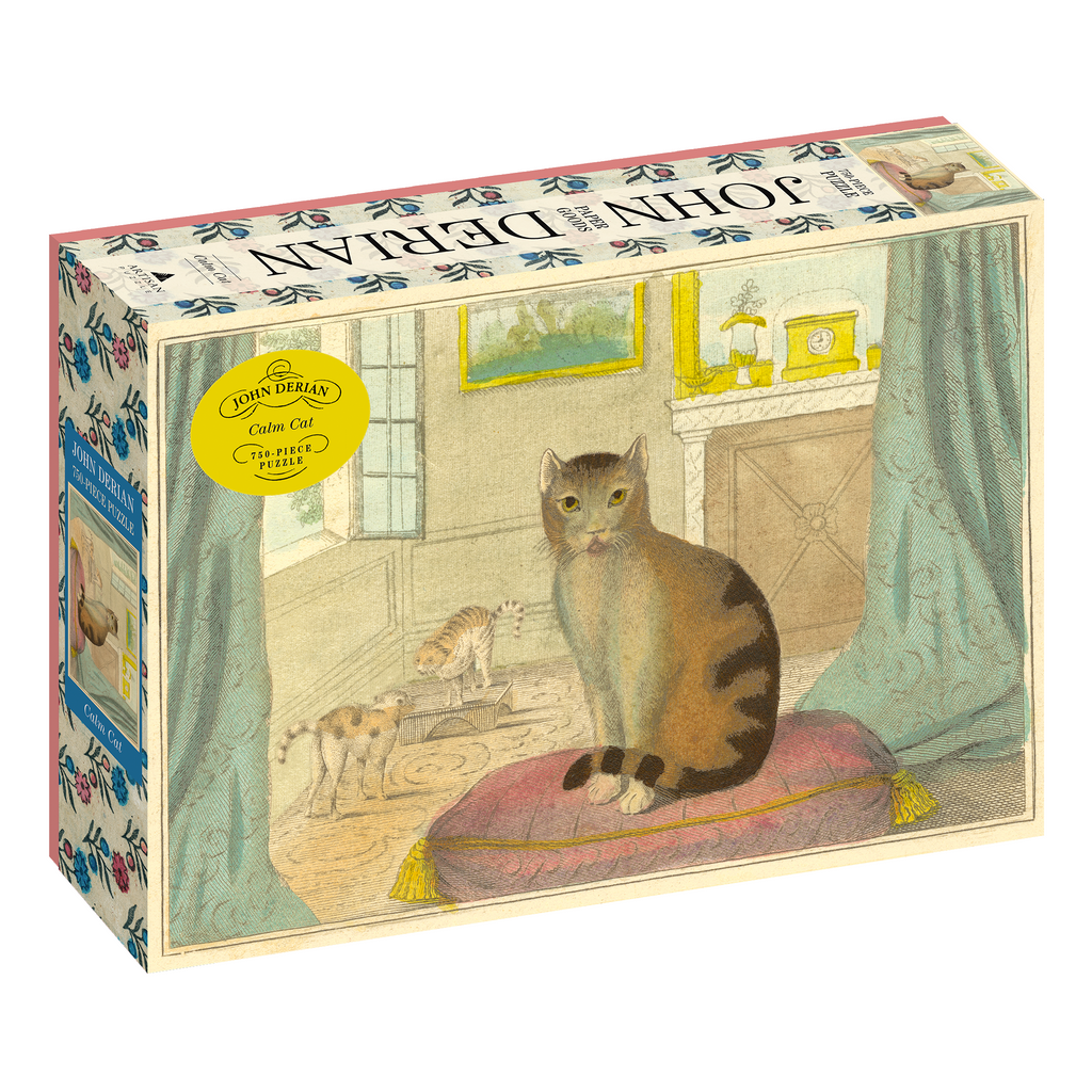 John Derian Calm Cat 750 Piece Puzzle