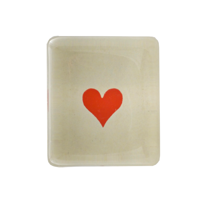 John Derian Red Heart Charm Paperweight